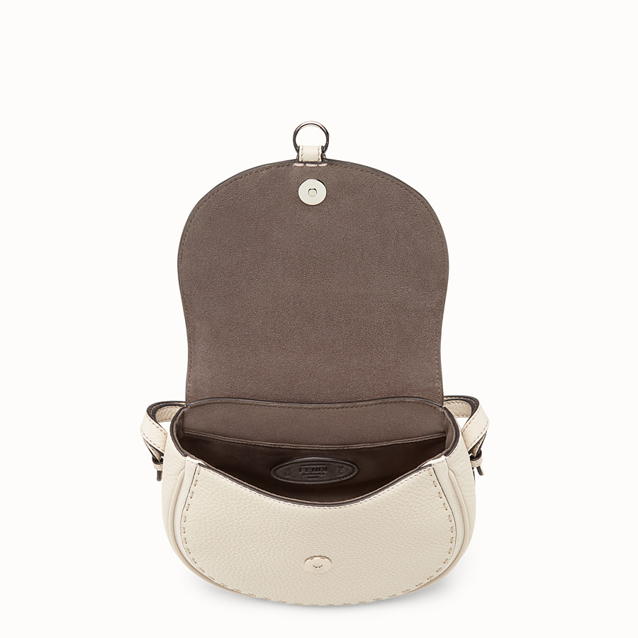 FENDI SHOULDER BAG - White leather bag - view 4 detail