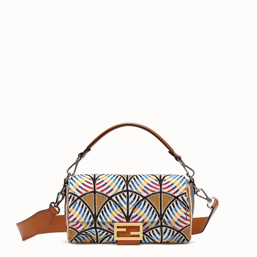 FENDI BAGUETTE - Bag with multicolour embroidery - view 1 detail