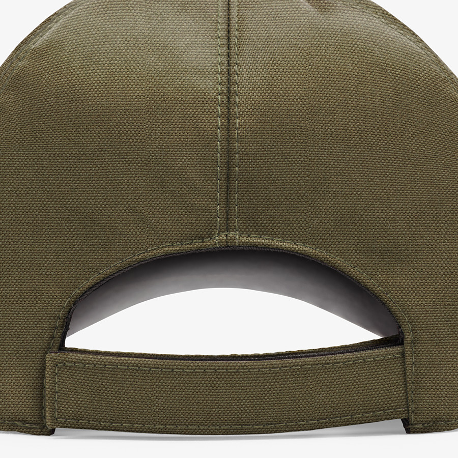 FENDI HAT - Green canvas baseball cap - view 2 detail