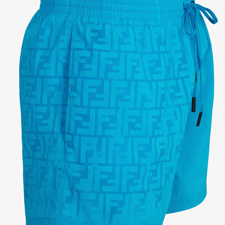 FENDI SWIM SHORTS - Light blue Lycra® shorts - view 3 detail
