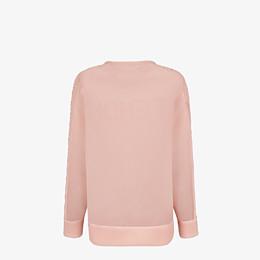 FENDI SWEATSHIRT - Sweatshirt aus technischem Netzgewebe in Rosa - view 2 thumbnail