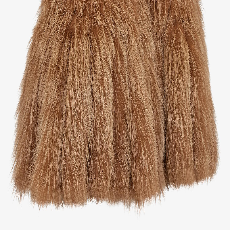 FENDI VEST - Brown fox fur vest - view 3 detail