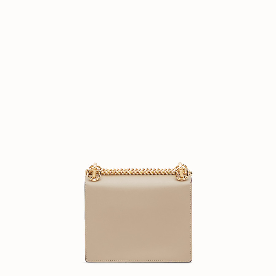 FENDI KAN I SMALL - Beige leather mini-bag - view 3 detail