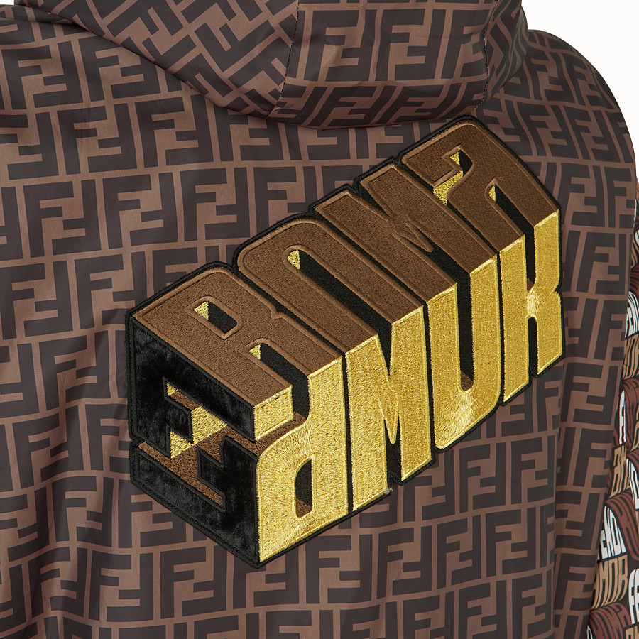 FENDI WINDBREAKER - Fendi Roma Amor fabric windbreaker - view 3 detail