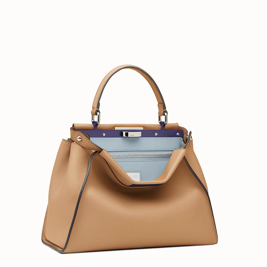 FENDI PEEKABOO REGULAR - Sand-colour leather handbag - view 2 detail