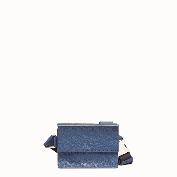 FENDI MESSENGER - Blue leather bag - view 1 small thumbnail