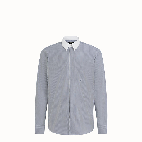 FENDI SHIRT - Blue cotton shirt - view 1 small thumbnail