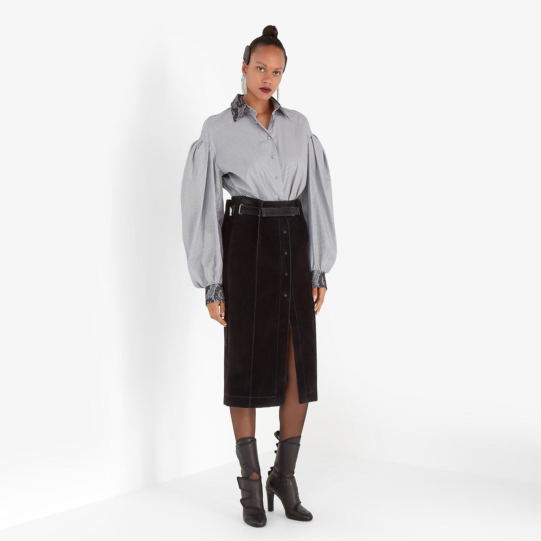FENDI SHIRT - Striped cotton shirt - view 4 detail