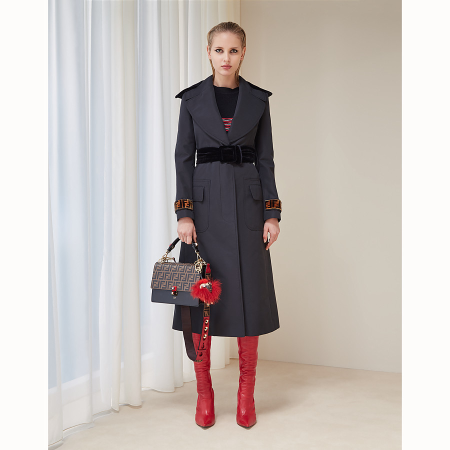 FENDI COAT - Black fabric trench coat - view 4 detail