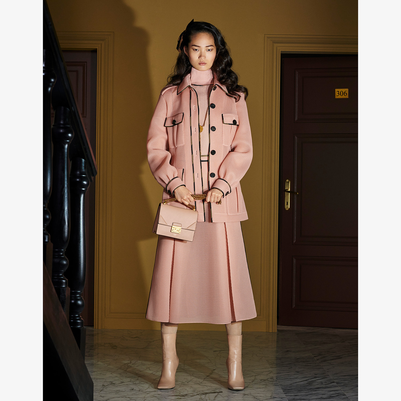 FENDI JACKET - Safari jacket in pink tech mesh - view 4 detail