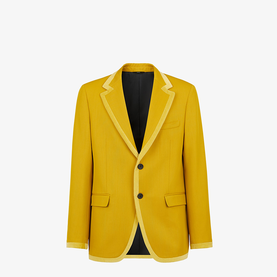 FENDI JACKET - Yellow wool blazer - view 1 detail