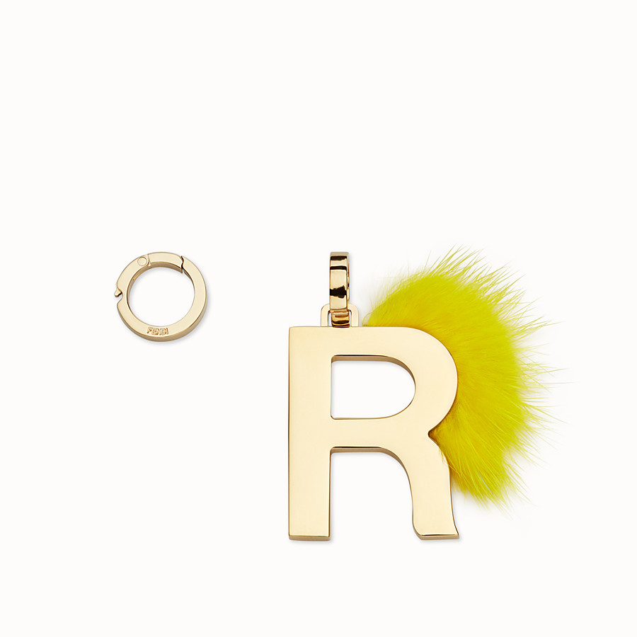 FENDI ABCLICK R - Pendant with fluorescent yellow fur - view 1 detail
