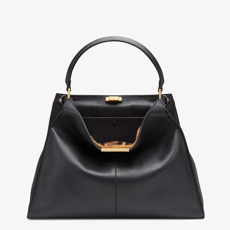FENDI PEEKABOO X-LITE LARGE - Black leather bag - view 2 detail