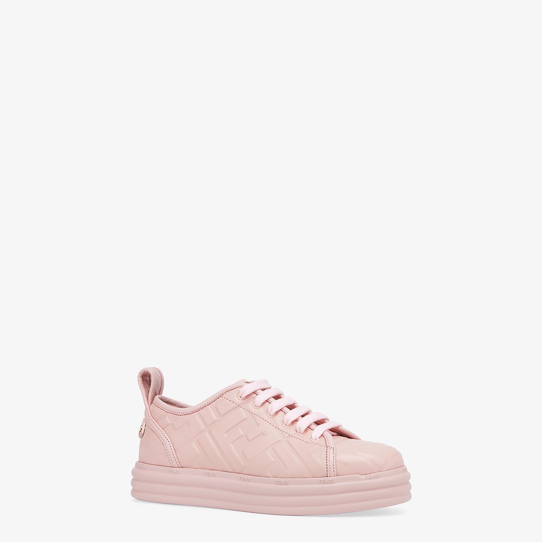 FENDI FENDI RISE - Pink leather flatforms - view 2 detail