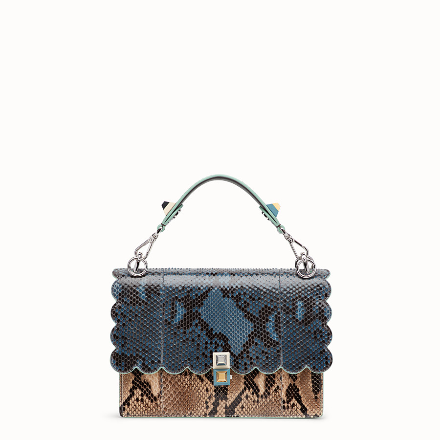 FENDI KAN I - Sac en python multicolore - view 1 detail