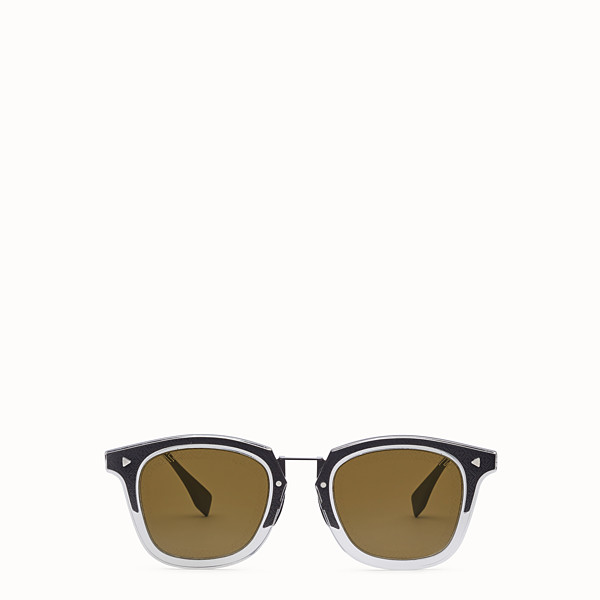 FENDI FF - Dark grey ruthenium sunglasses - view 1 small thumbnail