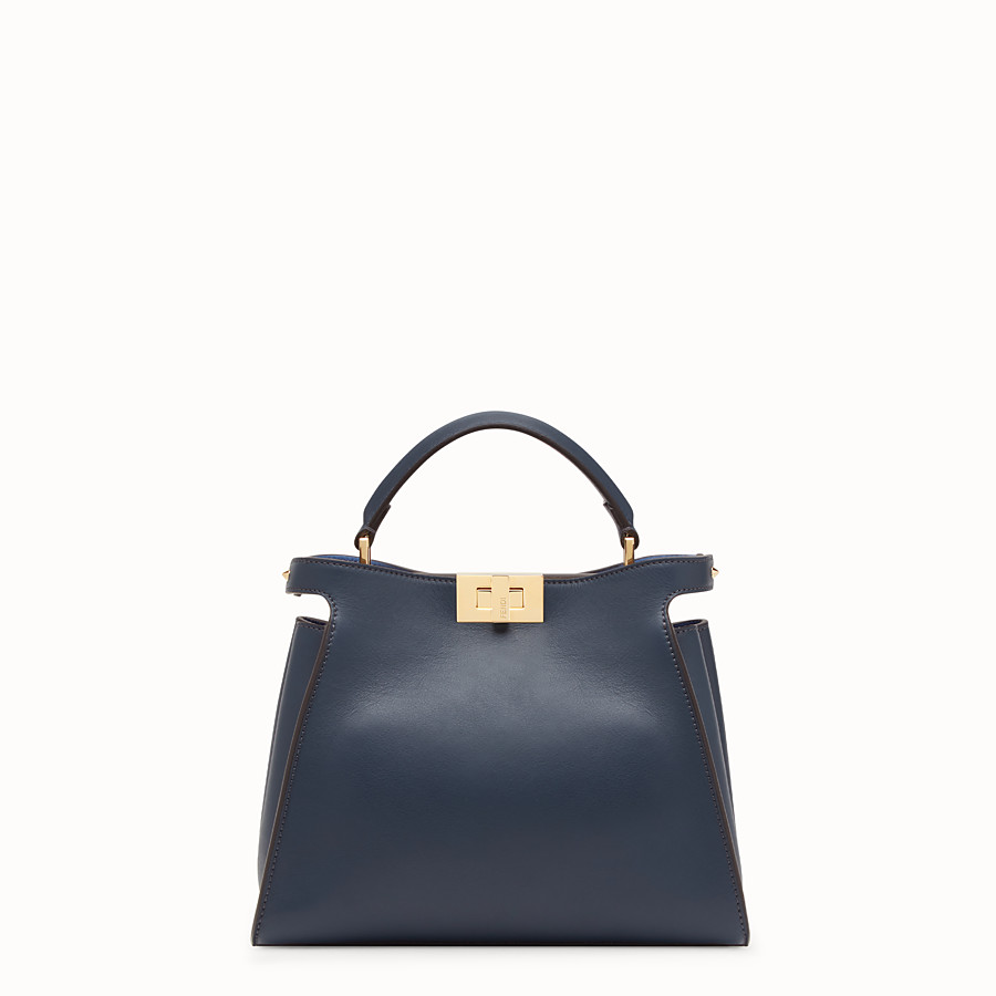 FENDI PEEKABOO ESSENTIALLY - Blue leather bag - view 1 detail