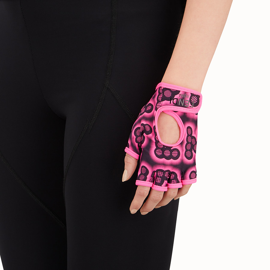 FENDI GLOVES - Gloves in pink fabric - view 2 detail