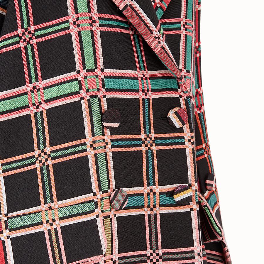 FENDI COAT - Madras fabric check coat - view 3 detail