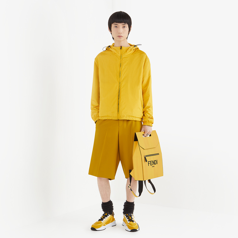 FENDI FENDI PACK BACKPACK - Yellow leather backpack - view 5 detail