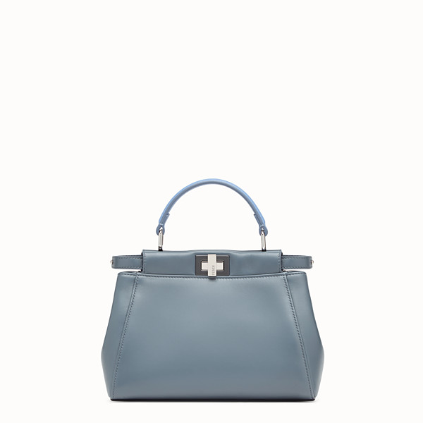 FENDI PEEKABOO MINI - Blue leather bag - view 1 small thumbnail