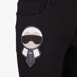 FENDI DENIM - black five-pocket with patch - view 3 thumbnail
