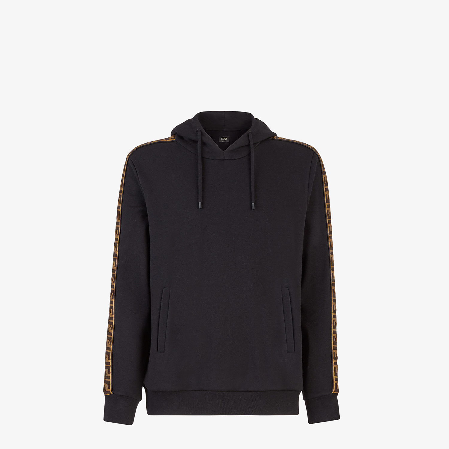 FENDI SWEATSHIRT - Black wool and cotton sweatshirt - view 1 detail