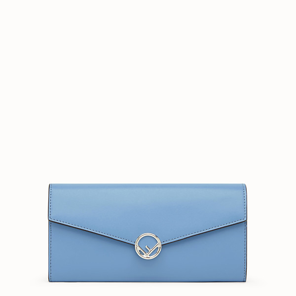 FENDI CONTINENTAL - Light blue leather wallet - view 1 small thumbnail