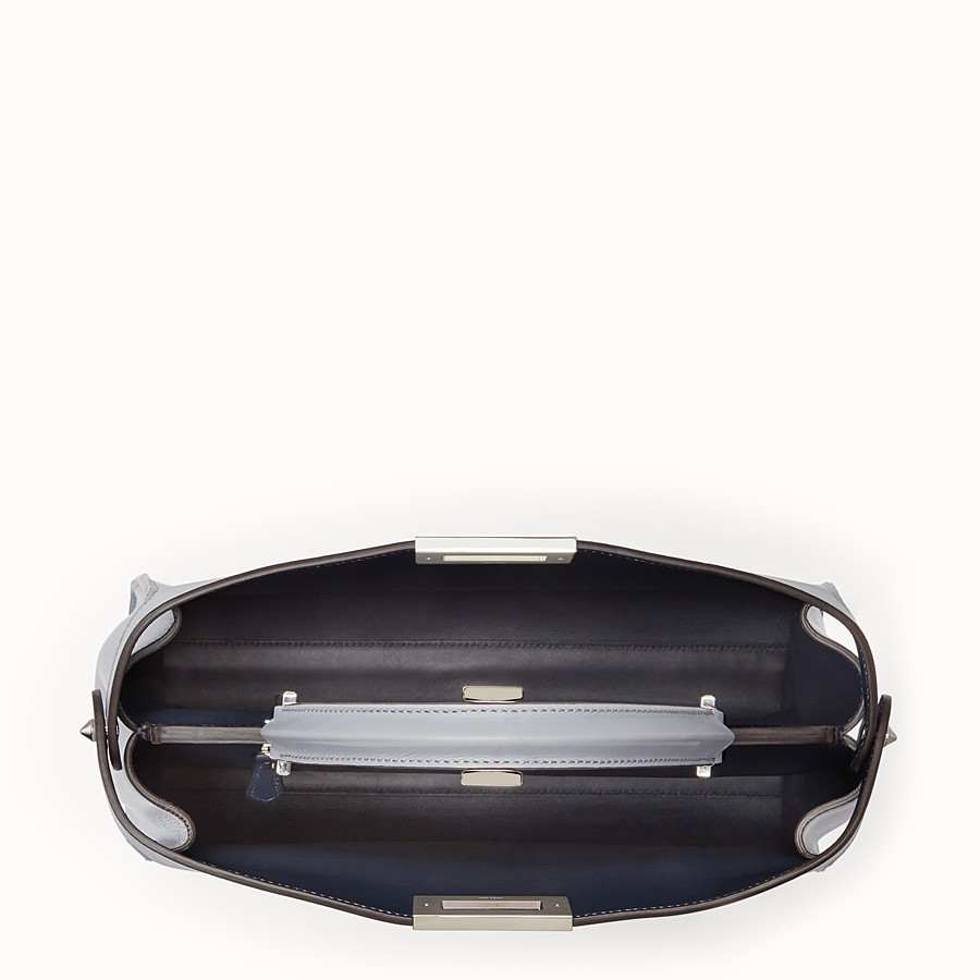 FENDI PEEKABOO ESSENTIAL - Slate and dark blue leather handbag - view 4 detail