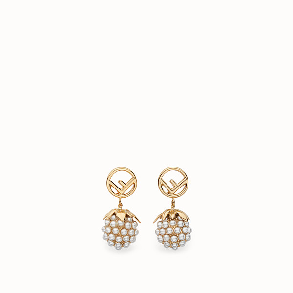 FENDI FENDI FRUIT EARRINGS - Gold colour earrings - view 1 small thumbnail