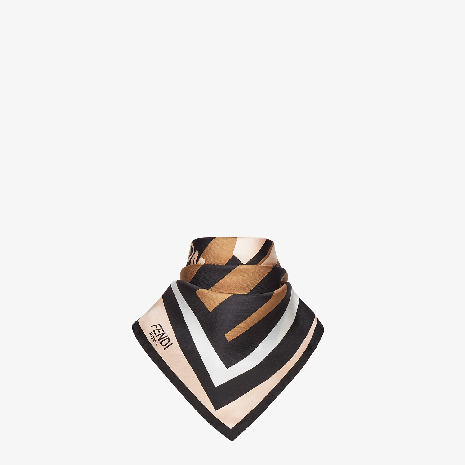 FENDI PEQUIN FOULARD - Multicolor silk foulard - view 2 detail