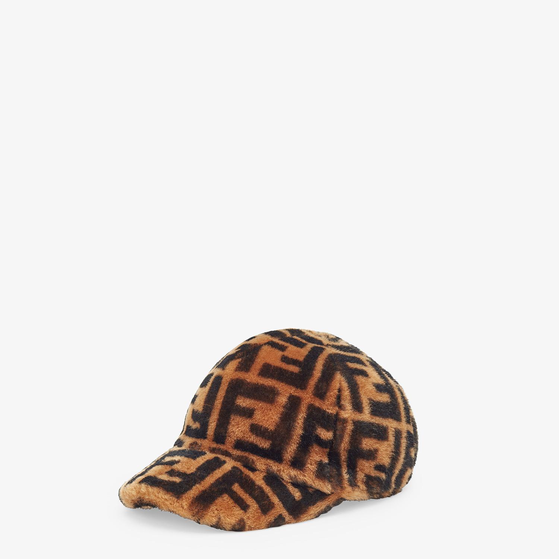 FENDI HAT - Brown shearling hat - view 1 detail