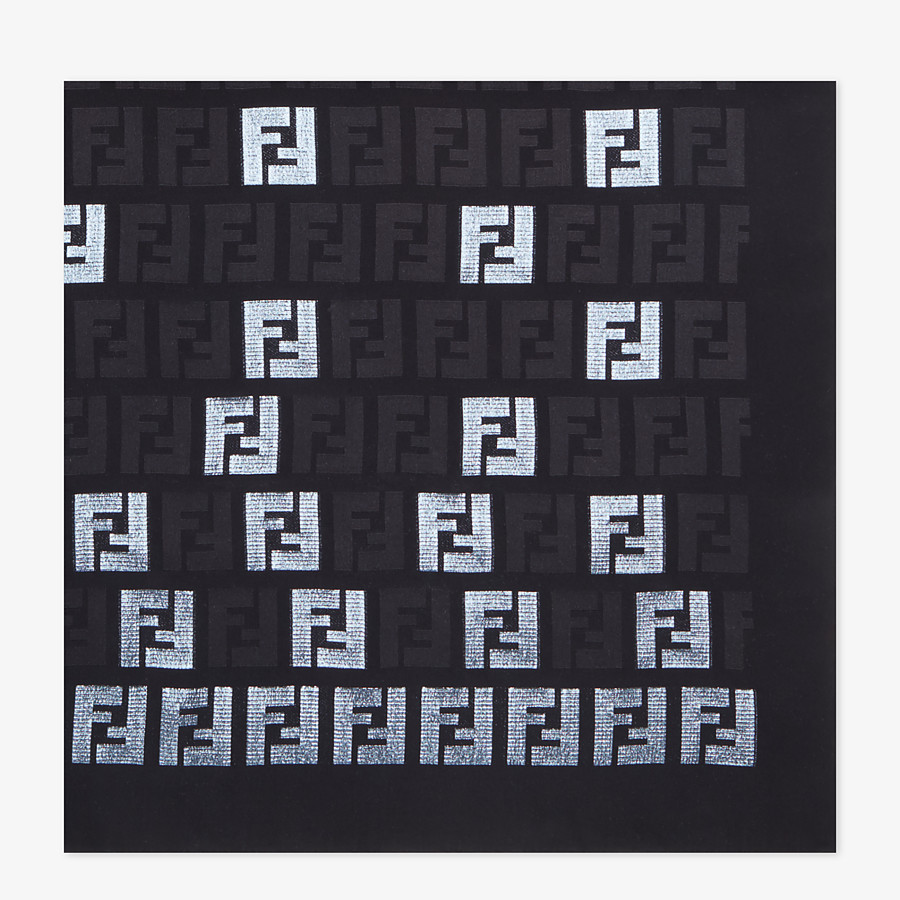 FENDI FF STOLE - Black silk stole - view 1 detail