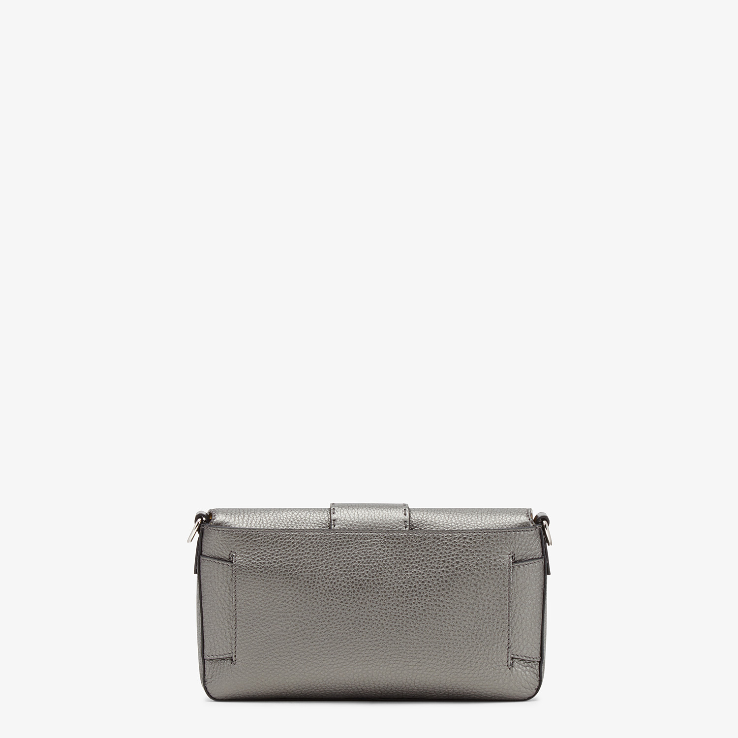 FENDI BAGUETTE - Grey leather bag - view 4 detail
