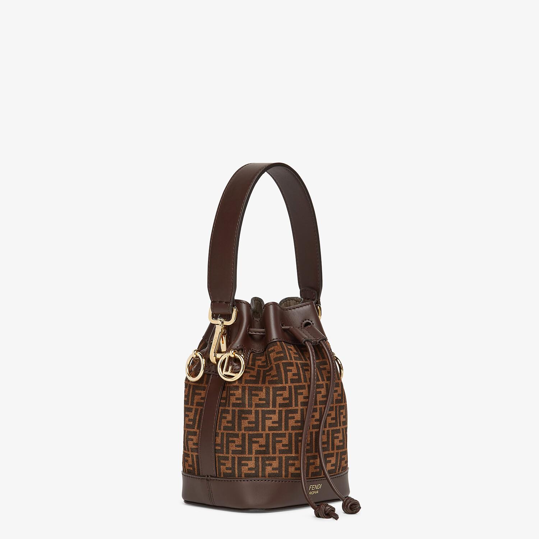FENDI MON TRESOR - Brown leather mini-bag with FF print - view 3 detail