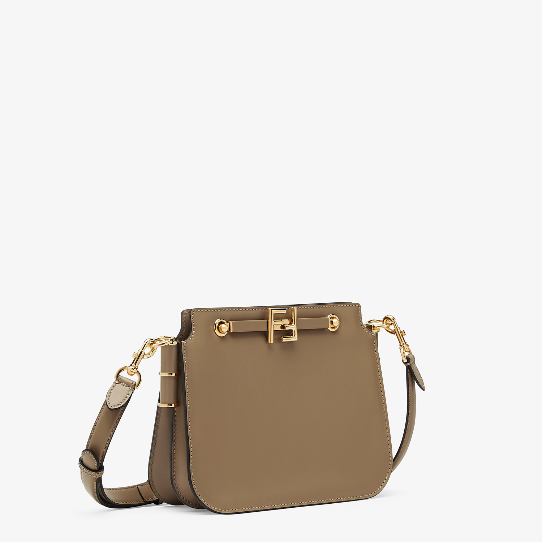 FENDI FENDI TOUCH - Gray leather bag - view 3 detail