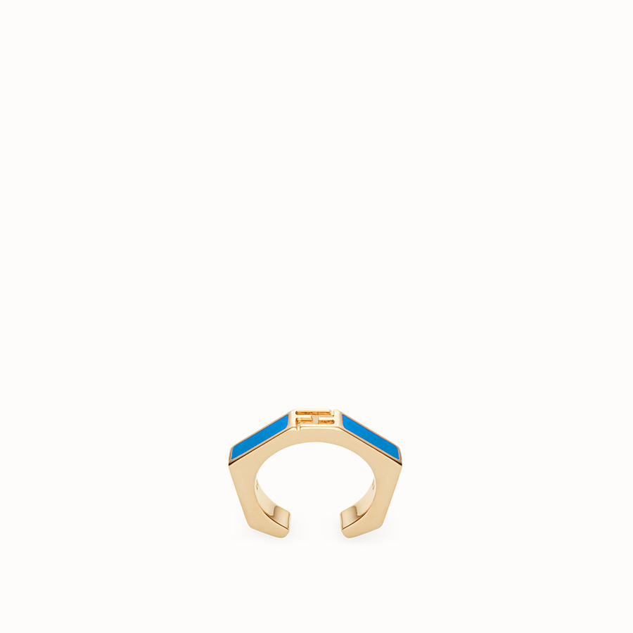 FENDI BAGUETTE RING - Blue enamelled ring - view 1 detail
