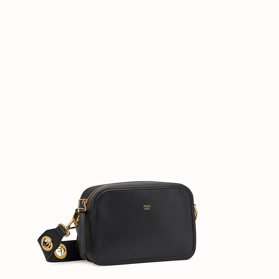 FENDI CAMERA CASE - Black leather bag - view 2 detail