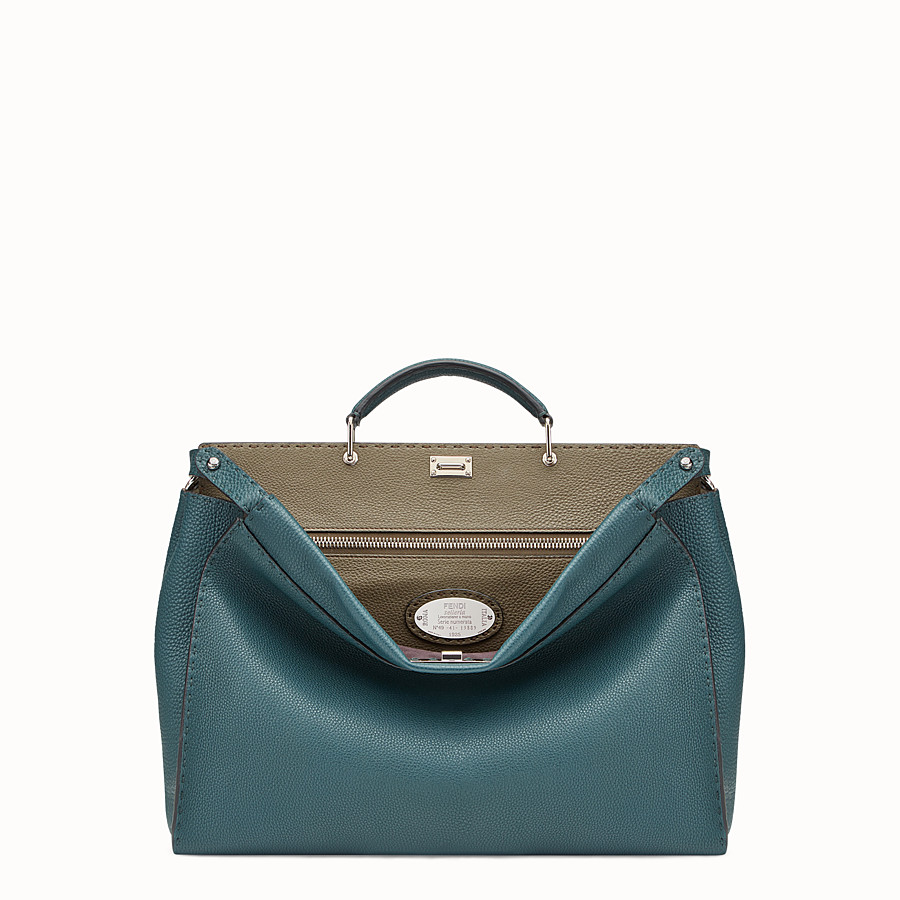 FENDI PEEKABOO - Green leather Selleria bag - view 1 detail