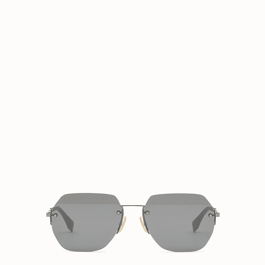 FENDI FF - Black ruthenium sunglasses - view 1 detail