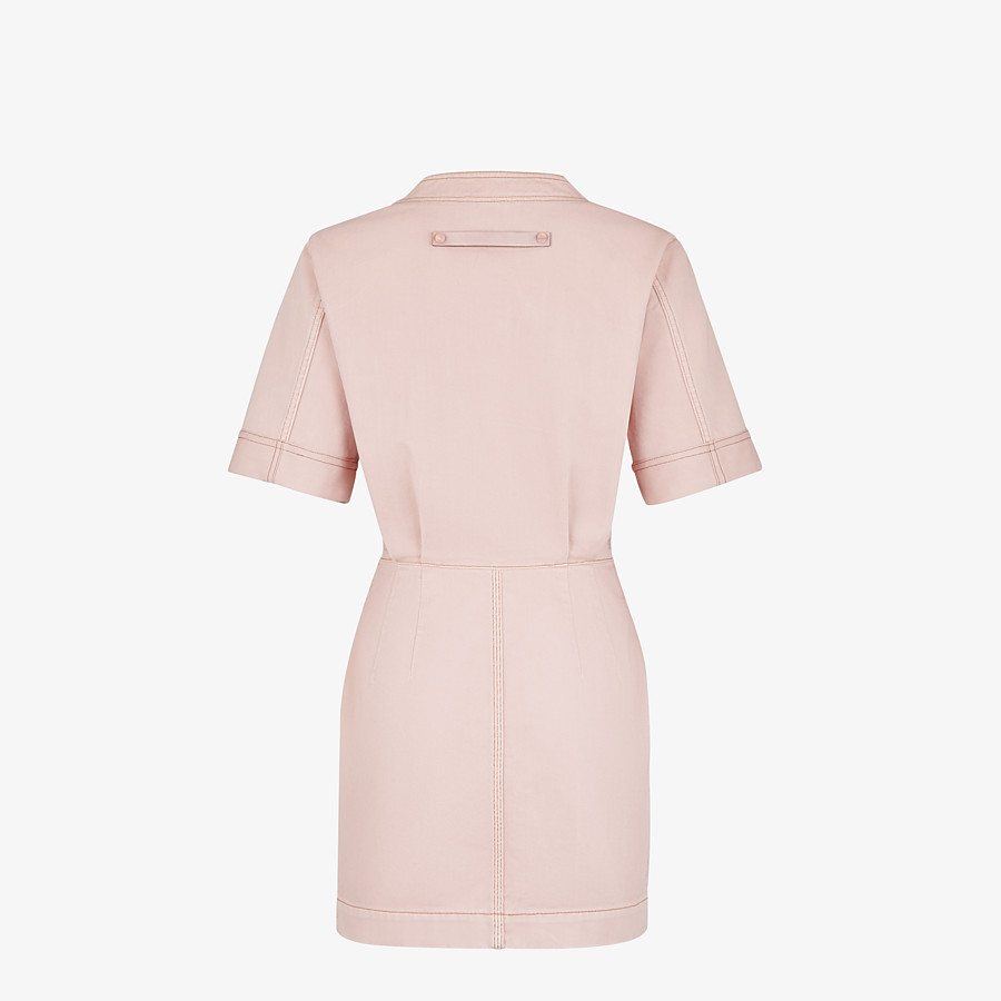 FENDI DRESS - Pink denim dress - view 2 detail