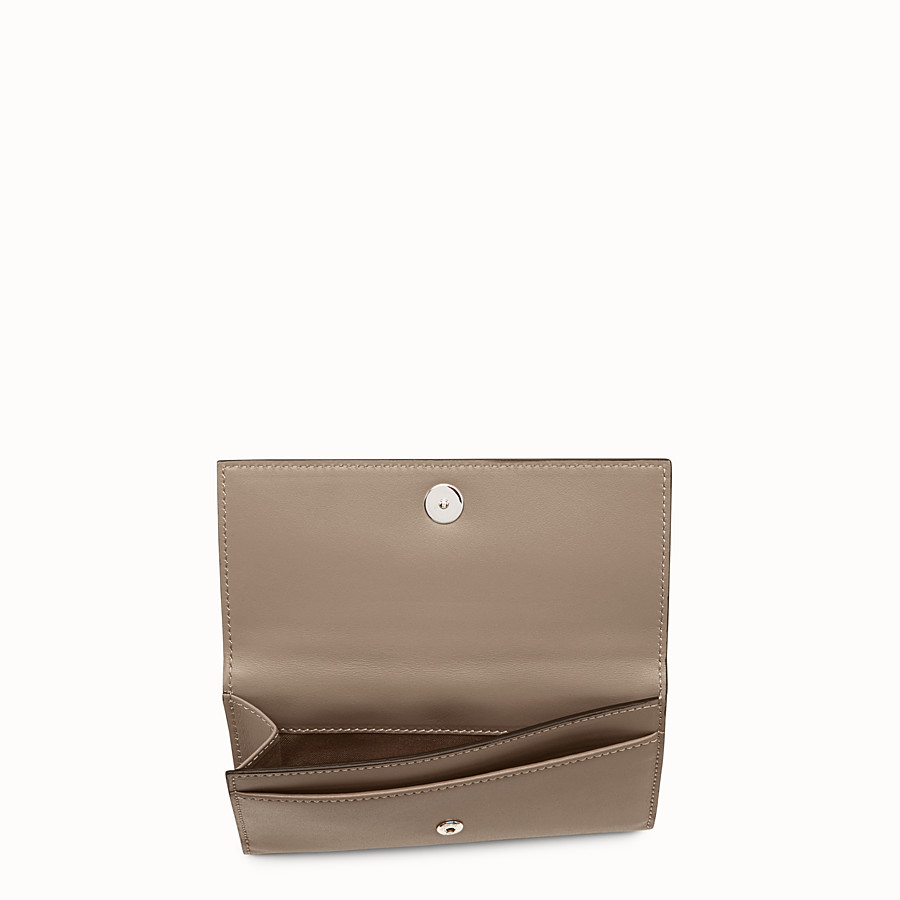 FENDI CONTINENTAL MEDIUM - Grey leather wallet - view 4 detail