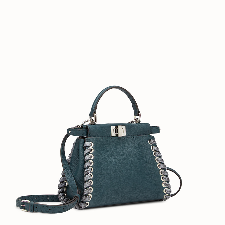 FENDI PEEKABOO MINI - Green Selleria handbag - view 2 detail