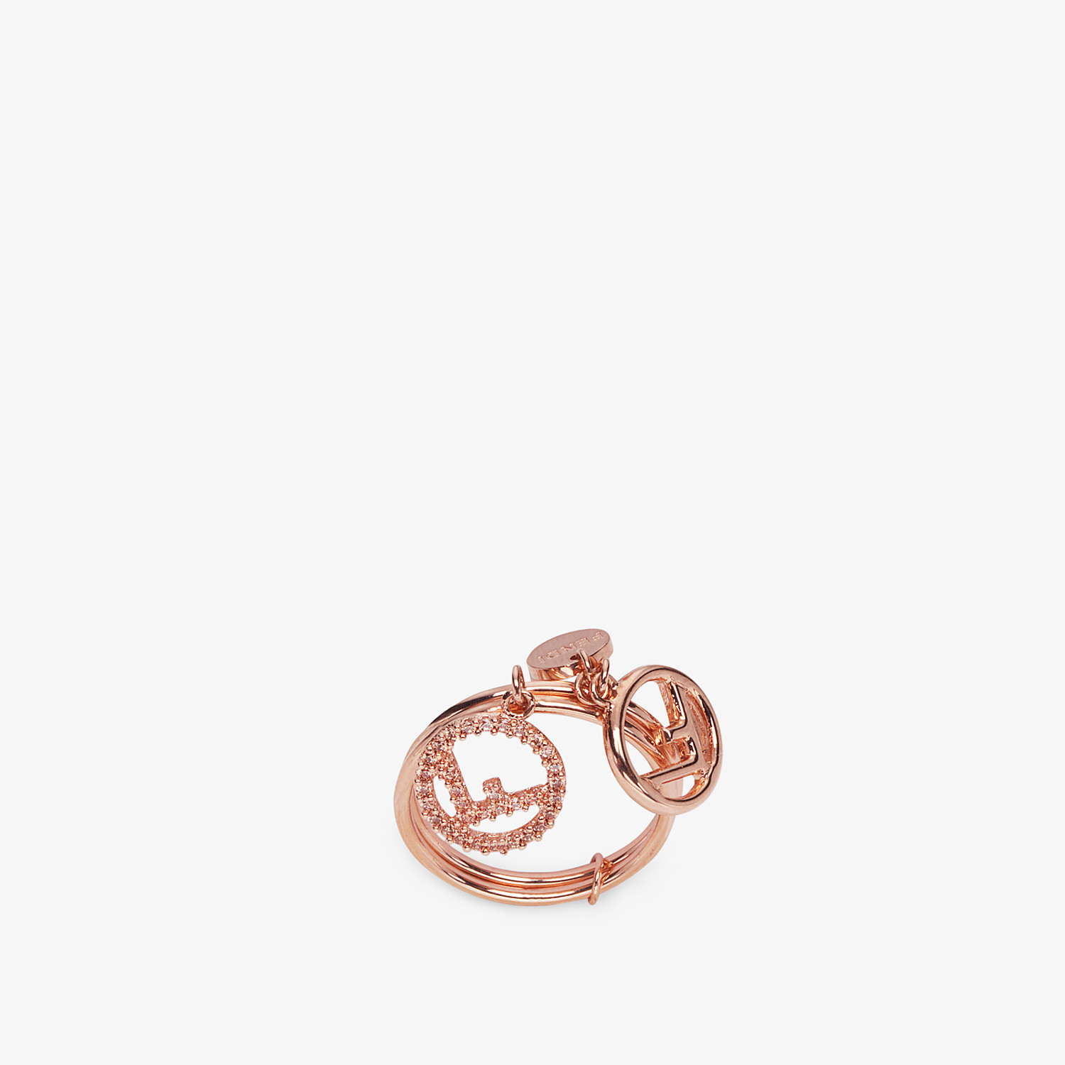 FENDI F IS FENDI RING - Rose gold-colour ring - view 1 detail