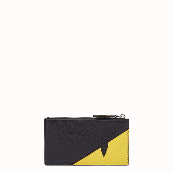 FENDI COIN PURSE - Black leather coin purse - view 1 small thumbnail
