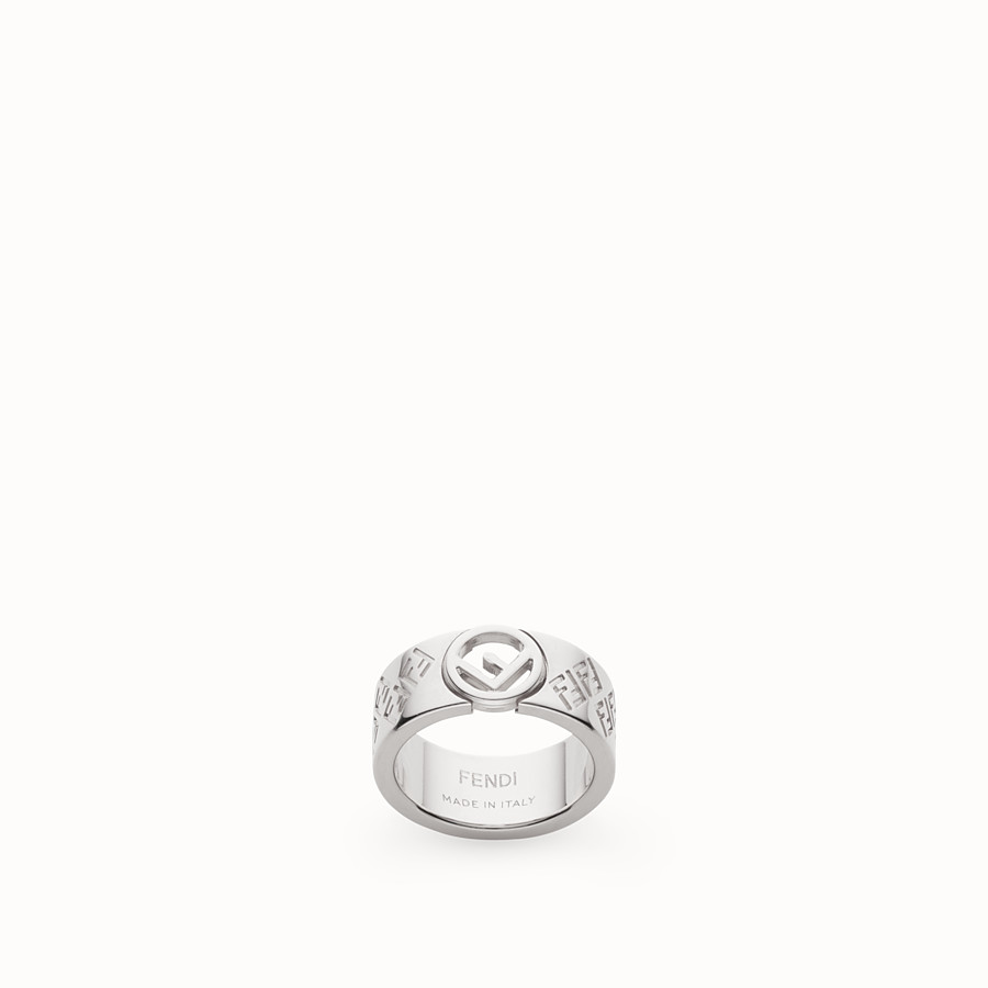 FENDI FF RING - Silver coloured ring - view 1 detail