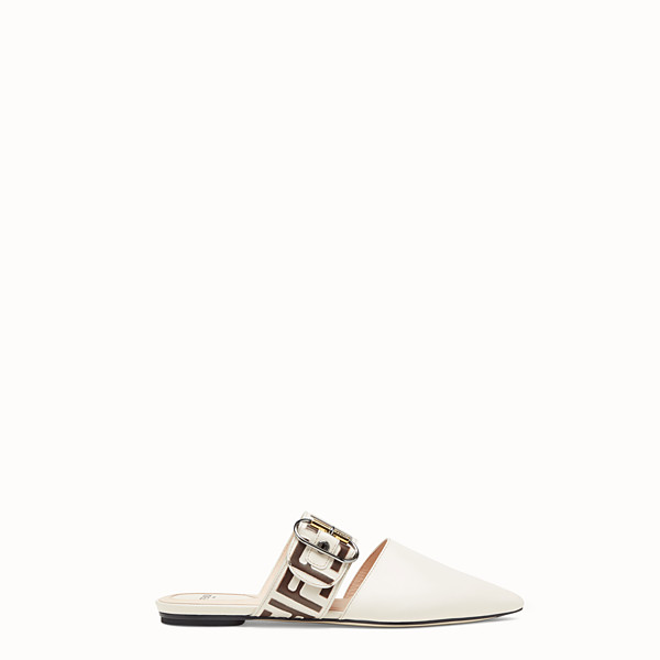 FENDI SABOT - White leather sabot - view 1 small thumbnail
