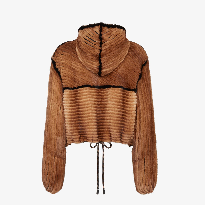 FENDI JACKET - Brown mink jacket - view 2 detail