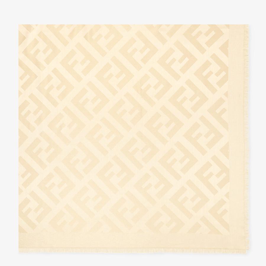 FENDI FF SHAWL - Beige silk shawl - view 1 detail
