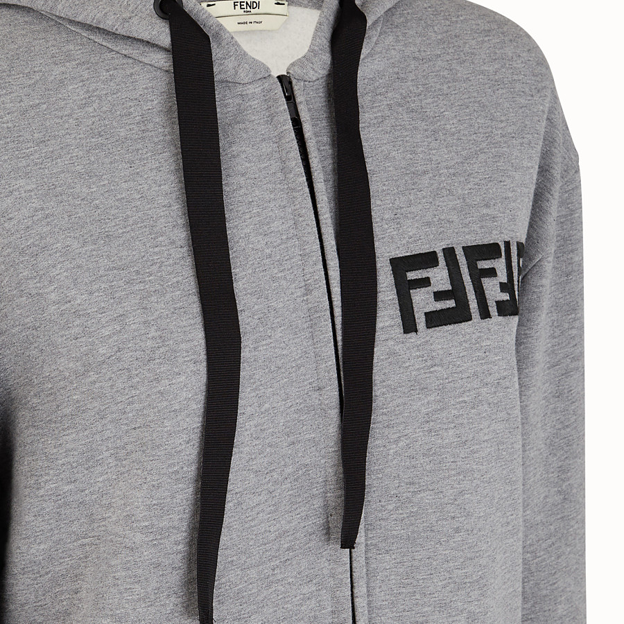FENDI SWEATSHIRT - Grey cotton sweatshirt - view 3 detail